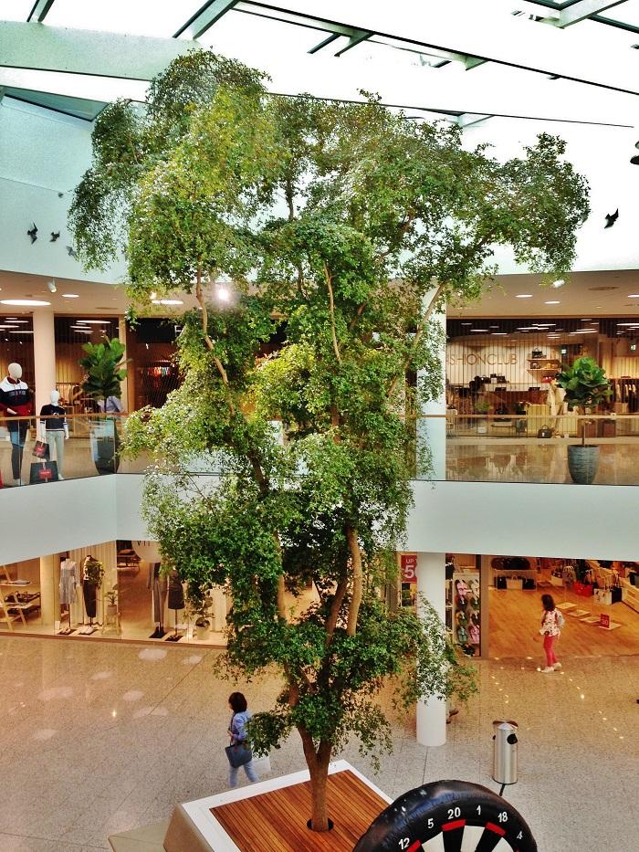 Baum pflanze kaufen shopping mall einkaufszentrum einkaufspassage