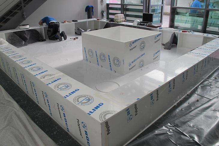 bañeras completas para plantas, incluido el borde del asiento
